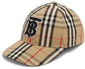 Burberry Vintage-check Cotton Baseball Cap - Womens - Beige Multi