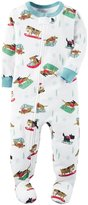 Carter's Dog on Sled Footie (Toddler) - Print - 2T