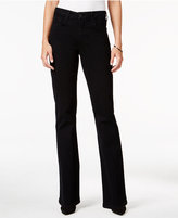NYDJ Barbara Embellished Black Wash Bootcut Jeans