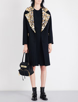 Moschino Button-embellished oversized wool coat