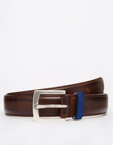 Paul Smith Burnished Leather Suit Belt - Brown