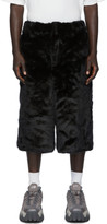 Landlord Black Faux-Fur Shorts