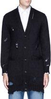 Alexander McQueen Distressed mohair-silk cardigan