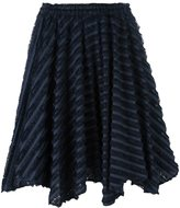 Julien David striped frayed skirt