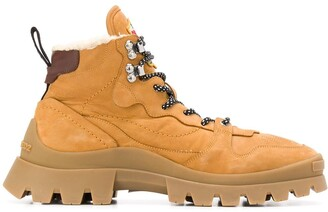 DSQUARED2 Shearling-Lined Hiking Boots