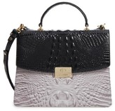 Brahmin Brera Simone Top Handle Leather Satchel - Black