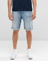 Lee Straight Denim Shorts Beach Blue