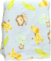 Baby Starters Junior Jungle Plush Blanket - blue, one