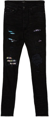 Amiri Hawaiian Patch Jean in Aged Black | FWRD