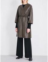 Sportmax Jago leather wrap coat