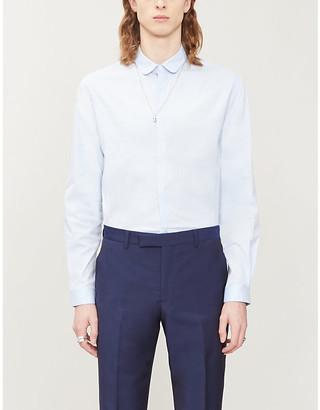 The Kooples Slim-fit cotton-twill shirt
