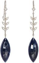 Cathy Waterman Women's Blue Sapphire Wheat Earrings