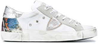 Philippe Model Paris Logo Lace Low-Top Sneakers