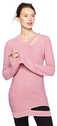 Cable Stitch Women's Long-Sleeve Cutout Sweater