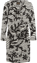 Vivienne Westwood Draped Printed Cotton-jersey Dress - Black