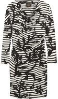 Vivienne Westwood Draped Printed Cotton-jersey Dress - Black
