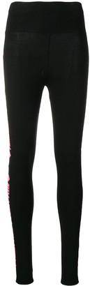 Philipp Plein Logo Stripe Leggings