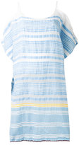 Lemlem striped cold-shoulder dress