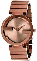Gucci Interlocking YA133211 Men's Chocolate Stainless Steel Watch