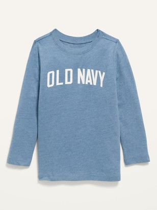 Old Navy Unisex Logo-Graphic Long-Sleeve Pullover Tee for Toddler