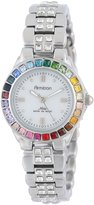Swarovski Armitron Women's 75/3689MPSVRB Multi-Color Crystal Accented Silver-Tone Bracelet Watch