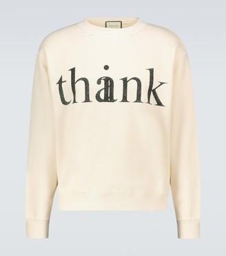Gucci Think/Thank crewneck sweatshirt