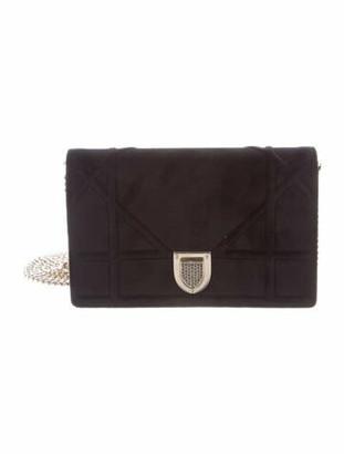 Christian Dior 2018 Velvet Mini Diorama Bag Black
