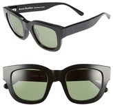 Acne Studios Women's 'Frame' 46Mm Sunglasses - Black / Green