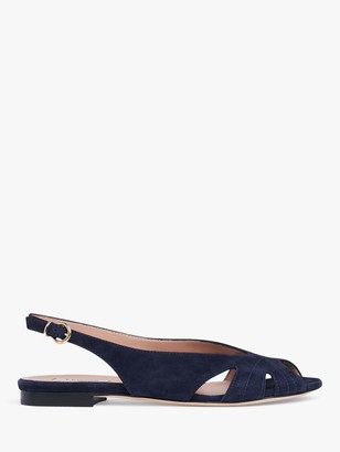 LK Bennett Rome Leather Cut Out Flat Sandals