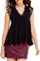 Free People Lovin On You Lace Sleeve Top