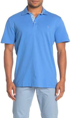 Tailorbyrd Short Sleeve Stretch Pique Polo Shirt