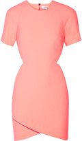 Elizabeth and James Skylyn cutout neon stretch-cady mini dress