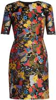 Mary Katrantzou Mayfield short-sleeved jacquard dress