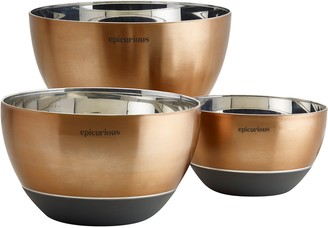 Epicurious 3-pc. Stainless Steel Mixing Bowl Set with Silicone Base