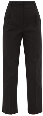 Golden Goose Austin Cotton-blend Twill Straight-leg Trousers - Womens - Black