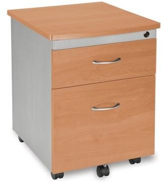 Symple Stuff Bicknell Modular 2-Drawer Mobile Vertical Filing Cabinet Color: Maple