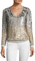 Jenny Packham Silk Sequin Blouse