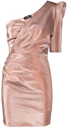 Elisabetta Franchi Metallic One-Shoulder Dress