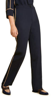 Marina Rinaldi Plus Size Straight-Leg Pants with Contrast Piping