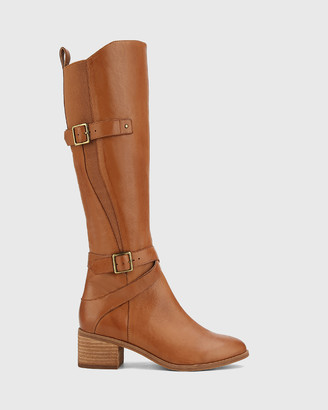 Wittner - Women's Brown Boots - Ionna Leather With Elastic Long Boots - Size One Size, 36 at The Iconic