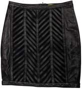 Catherine Malandrino Black Leather Skirt