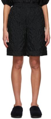 Cecilie Bahnsen Black Linea Boyfriend Shorts