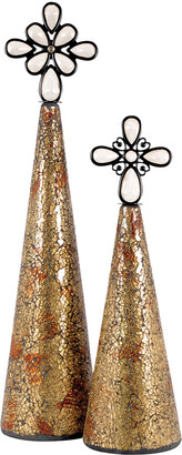 Artistic Home & Lighting Artistic Lighting Montage Christmas Set Of 2 Trees Gold
