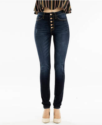 Fly London Kancan High Rise Button Super Skinny Jeans