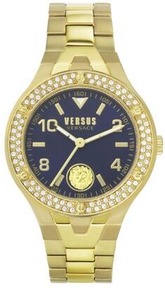 Versus By Versace Women's Vittoria Gold Tone Stainless Steel Bracelet Watch 38mm