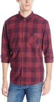 Quiksilver Men's Yardbite Buffalo Long Sleeve Plaid Shirt, Plum Perfect