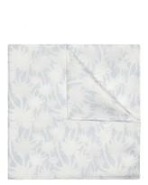 Jaeger Silk Palm Print Pocket Square