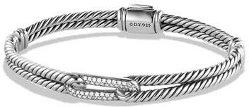 David Yurman Petite Pave Mini Single-Loop Bracelet with Diamonds
