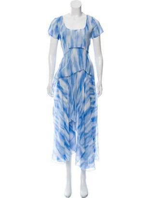 Sies Marjan Silk Printed Maxi Dress blue