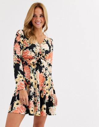 Miss Selfridge mini swing dress in floral print
